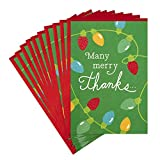 Hallmark Pack of Christmas Thank You Cards, Merry Thanks (10 Cards with Envelopes)