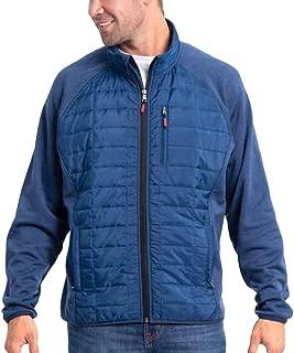 Orvis Men's Mixed Media Full Zipper Quilted Jacket, True Blue/Black Iris, Size 3XL