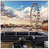 Fototapete Foto London 3D Große Wandmalerei Wohnzimmer Schlafzimmer Sofa TV Hintergrund Restaurant Lounge Bar Fototapete Tapete 3d wandbild tapeten vintage Moderne Papier-300cm×210cm