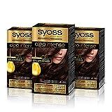 Syoss Oleo Intense - Tono 4-86 Castaño Helado (Pack De 3) – Coloración permanente sin amoníaco...