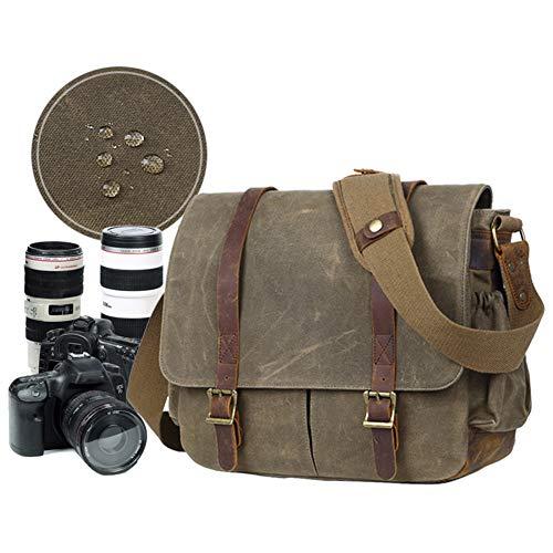 JTYX Bolsos de Hombro de la cámara de Lona Bolsa de fotografía...