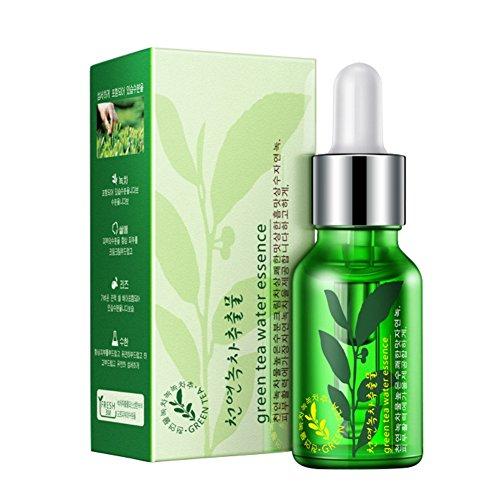 Sérum De Thé Vert, Sérum D'acide Hyaluronique De KISSION Pour L'essence Hydratante Liquide Anti-Vieillissement 15 ml Sérum de Soins de la Peau