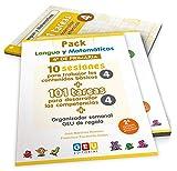 Pack Lengua y matemáticas 4º primaria: 10 Sesiones Contenidos básicos y 101 Tareas para Desarrollo Competencias (Niños de 9 a 10 años)