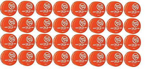 Red One Aqua - Cera de fijación para cabello, 150 ml, color naranja, 48 unidades
