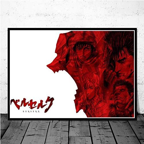ganlanshu Anime Plakate und Drucke Leinwand Malerei Wohnzimmer Filmdekoration Künstler Hauptdekoration,Rahmenlose Malerei-40X60cm
