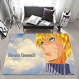 Naruto Alfombrillas de Dibujos Animados para niños impresión de impresión Alfombrillas Antideslizantes Alfombrillas de Mapa-a_60x90cm