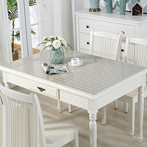 Nappes en PVC souple en verre imperméable à l'eau Anti - Hot table transparente Pad Table en tissu Table basse Pad Nappe en plastique plaque de cristal ( Couleur : C , taille : 90*160cm )