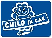 imoninn CHILD in car ステッカー 【マグネットタイプ】 No.48 モクモクさん (青色)