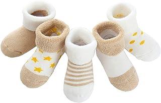 Pack de 5 Pares de Calcetines Bebé Niño Niña Algodón