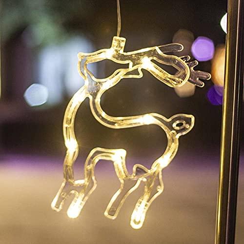 N\C Christmas Lights Decoration Window Hanging Lights Window Sucker Lights Christmas Activities Party Arrangement Color Lights LED Light String