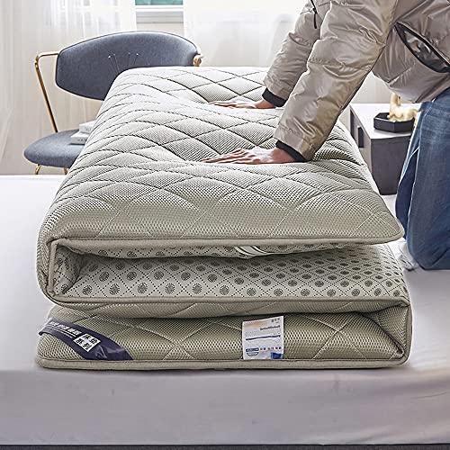 ZWDYY Colchón acolchado Tatami, grueso japonés, plegable, de color liso, suave, colchón, cama individual, doble, B de 180 x 200 cm