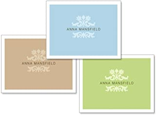 Color Block Personalized Note Card Set (24 cards - 8 cards of each color)