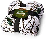 TrailCrest Soft Touch Reversible Camo Throw Blanket - 60x80 - Snow Camo…