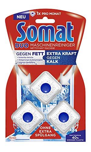 Somat Duo Maschinenreiniger Tabs, Geschirrspül Reiniger, Gegen Fett plus Extra Kraft gegen Kalk, 57 g