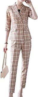 Plaid blazer female spring and autumn new self-cultivation foreign professional suit suit fashion