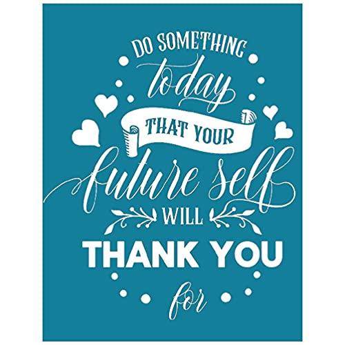 Thank You - Plantilla de serigrafía autoadhesiva para decoración de serigrafía