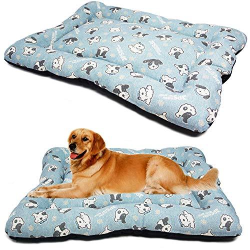 BPS Manta Colchoneta para Perros Gatos Cama Mascotas Antideslizante Tamaño S/M/L Portatil Colchón Sofá Almohada Suave (M: 87x67 cm, Azul Claro) BPS-14095AC