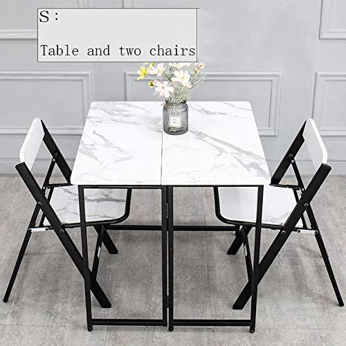 HUOQILIN Eettafel voor thuis, klein, vierkante tafel, klaptafel, klaptafel, klaptafel, plaatsbesparend, inklapbaar, zijtafel