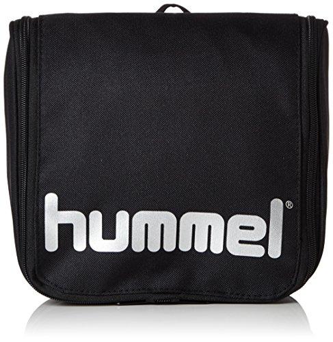 Hummel Unisex Kulturbeutel Authentic, black/silver, 21 x 9 x 23 cm, 4,3 liters