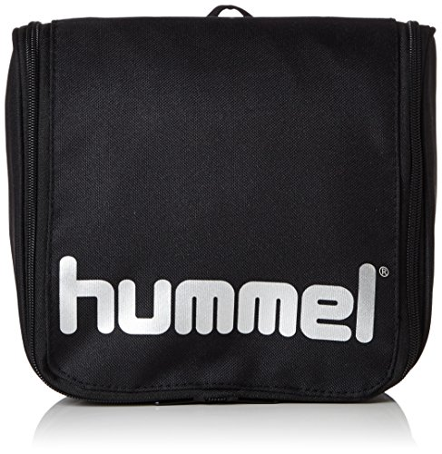 Hummel Unisex Kulturbeutel Authentic, black/silver, 21 x 9 x 23 cm, 4,3 liters