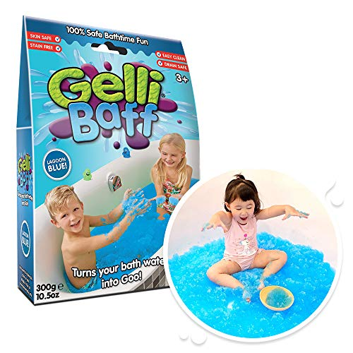 Gelli Baff Blue from Zimpli Kids, Turns water into thick, colourful goo, Bathtub Sensory Toy for Boys and Girls, Certified Biodegradable & Vegan Friendly Bath Toys
