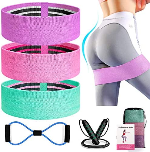Kinfayv 6 PCS Booty Bands Set Resistance Bands Set for Women Men Legs and Butt Upgrade Thicken product image