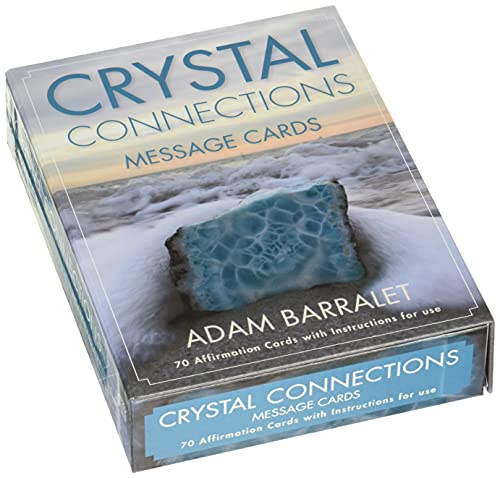 CRYSTAL CONNECTIONS MESSAGE CARDS (70 palm-sized affirmation cards w/instructions, boxed)