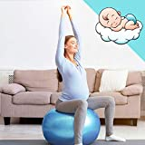 AMAZEAN Pelota para Embarazadas, Ejercicio Pilates, Fitball, , Balón de Gimnasia Anti-Burst para...