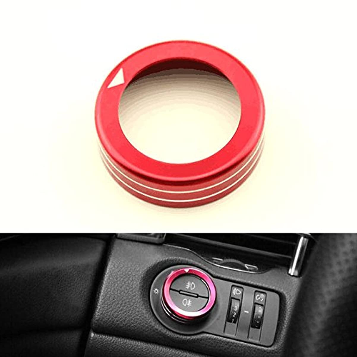 繁雑したがって請求書Jicorzo - For Chevrolet Cruze Red Car Head Light Adjust Switch Button Cover Ring Trim Aluminum Automobile Styling Accessories 2009-2014