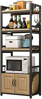 KOKOF Four à Micro-Ondes étagère de Cuisine étagère de Rangement étagère de Rangement Plancher Multifonction ménage avec A...