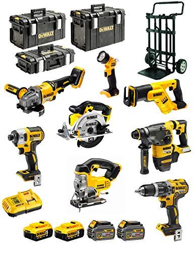 DEWALT Kit DCK-FP834MP4 54V/18V (DCD796 + DCG414 + DCH333 + DCS387 + DCS391 + DCS331 + DCL040 + DCF887 + 2 x 5,0 Ah 18V + 2 x 6,0 Ah 54V/18V + DCB118 + DS150 + DS300 + DS400 + Caddy)