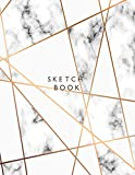 sketchbook: Marble cover (8.5 x 11) inches 110 pages, Blank Unlined Paper for Sketching, Drawing , Whiting , Journaling & Doodling (Marble sketchbook) (Volume 1)