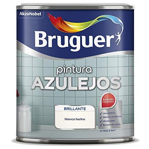 ESMALTE PINTURA AZULEJOS COLOR BLANCO HARINA ACABADO BRILLANTE 2,5 L