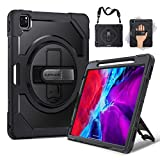 SUPFIVES iPad Pro 12.9 Case 2020/2018 with Built-in Apple Pencil Holder and Hand/Shoulder Strap, Triple Layer Shockproof Full Body Protective Case for iPad Pro 12.9 2020 4th Generation…