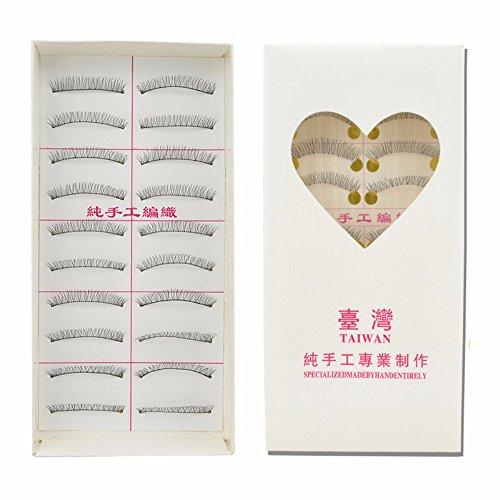 VanMe 10 paires de fibres de tiges de coton Su Yan naturel maquillage nu court paragraphe court paragraphe 216#