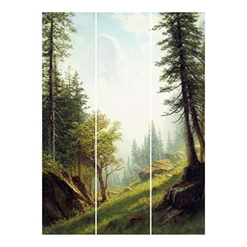 Schiebegardinen Set - A. Bierstadt - Berner Alpen - Ohne Aufhängung 250 x 180cm
