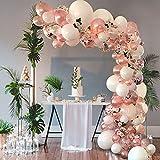 Globos de decoración de cumpleaños de oro rosa, 102...