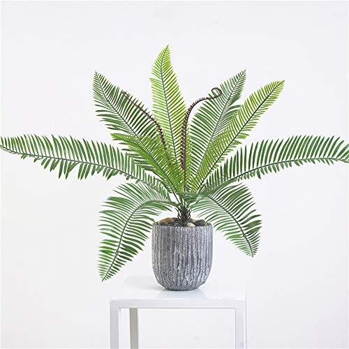 FafSgwq 1 Stück künstliche Pflanze Sago Cycas Baum Bonsai, Hochzeit, Party, Garten, Desktop, Dekoration, künstlicher Baum einfarbig