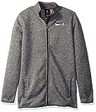NFL Youth Boys 'Lima' Full Zip Fleece Jacket-Cool Grey-L(14-16), Seattle Seahawks