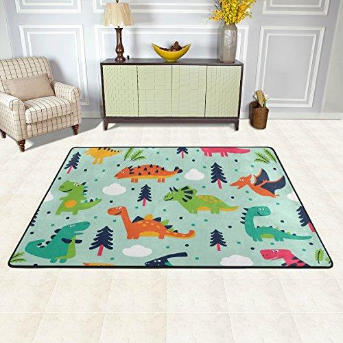 ISAOA - Alfombra moderna y suave, 9 x 0,6 m, diseño de nubes, diseño de dinosaurios, antideslizante, alfombra duradera para baño, dormitorio, cocina, pasillo, alfombra para entrada de mascotas