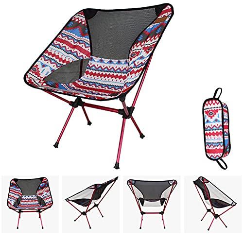 Yadlan Strandstuhl Klappbar Leicht Bis 150 kg, Campingstuhl Strandstuhl klappstuhl Anglerstuhl Camping Chair Faltba mit Tragetasche für Wandern, Atmungsaktiv und Bequem
