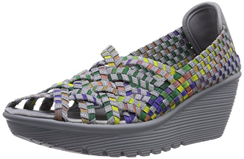 Skechers Damen ParallelUnbeweavable Offene Sandalen mit Keilabsatz, Grau (GYMT), 40 EU