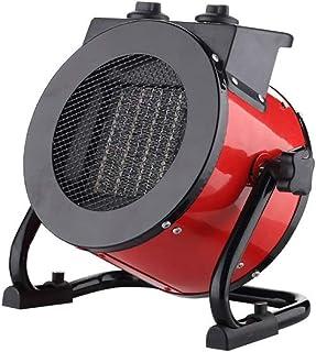Radiador eléctrico MAHZONG Calentador de Espacio 2KW Taller Industrial Garaje Inclinación Protección de sobrecalentamiento de Acero Inoxidable Control de termostato Ajustable
