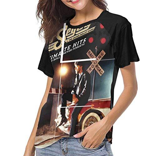 Kmehsv Damen Raglan Baseball T-Shirt Bob Seger The Silver Bullet Band Gedruckt Rundhalsausschnitt Lässige T-Shirts Tee Tops