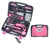 135 Teiliges  Werkzeugset Werkzeugkoffer in Pink Design