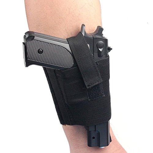 Verdeckter Universal schwarz Carry Knöchel Bein Pistole Gun Holster LCP LC9PF9klein für SIG 223sccy 9mm