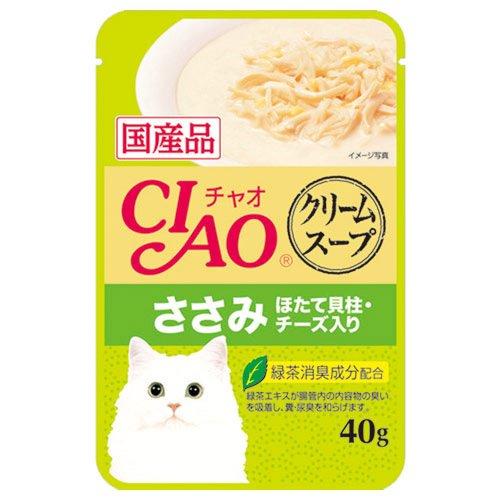チャオ クリームスープ ささみ ほたて貝柱・チーズ入り 40g×16P
