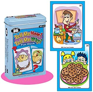 Tell Me How! Tell Me Why! Fun Deck Cards - Super Duper Educational Learning Toy for Kids