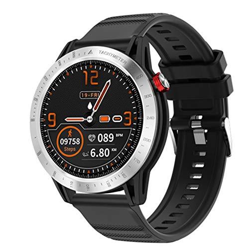 LJMG Smart Watch, 30M Impermeable IP68, Deportes FT03, 1.3 Pulgadas, Pantalla Táctil Completa Reloj De Ritmo Cardíaco Rastreador De Ritmo Cardíaco Smartwatch Hombres Y iOS De Mujeres,B