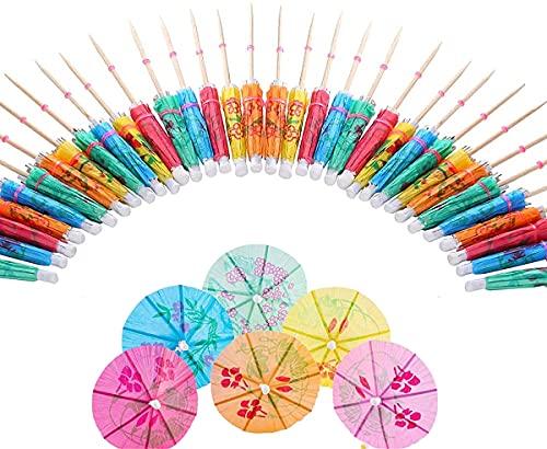 50 Piezas Paraguas de cóctel,Decoración de Fiesta de Cócteles,Toothpicks del Paraguas Bebida Paraguas de cóctel Sombrillas para Fiestas Fiestas Tropicales Playa(Multicolor 10 cm)
